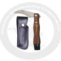Mushroom Knife With leather cover