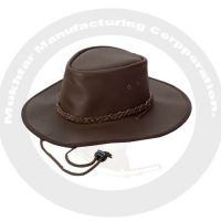 Real leather finishing hat